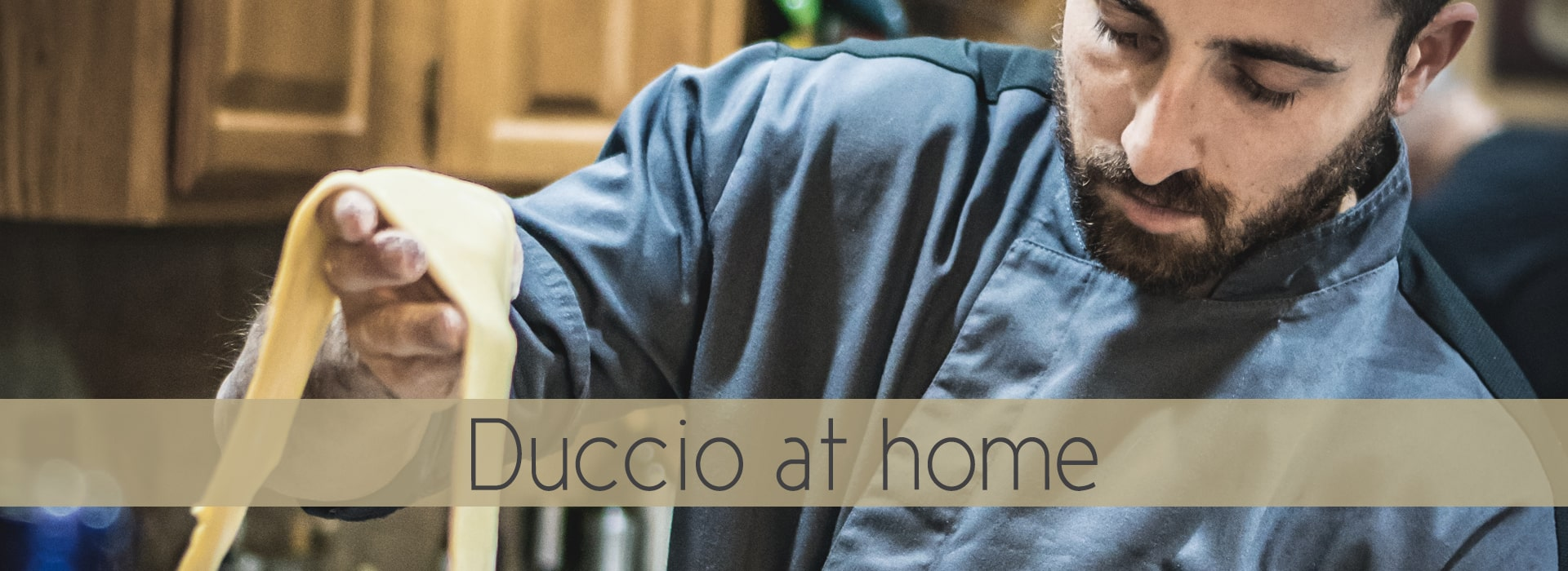 Chef Duccio at home