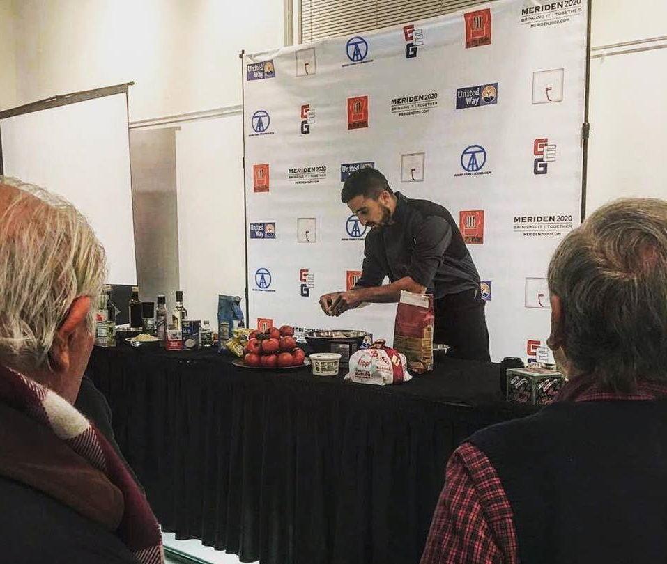 Chef Pistolesi guest of honour at the Augusta Curtis Cultural Center, United States